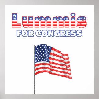 Lummis para la bandera americana patriótica del co poster