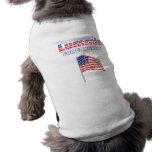 Lummis para la bandera americana patriótica del co camisa de perrito
