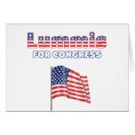 Lummis para la bandera americana patriótica del co tarjetón