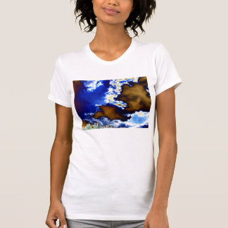 Lumnious&Chaotic Brown Face Cloud and Glowing Tree Shirts