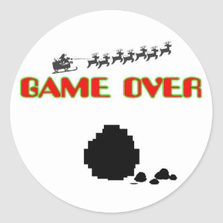 Lump Of Coal-Game Over Classic Round Sticker