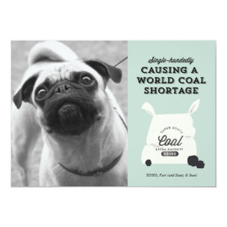 Lump of Coal Holiday Greeting 5x7 Paper Invitation Card