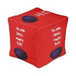 Lump of Coal Square Pouf Cube Pouf