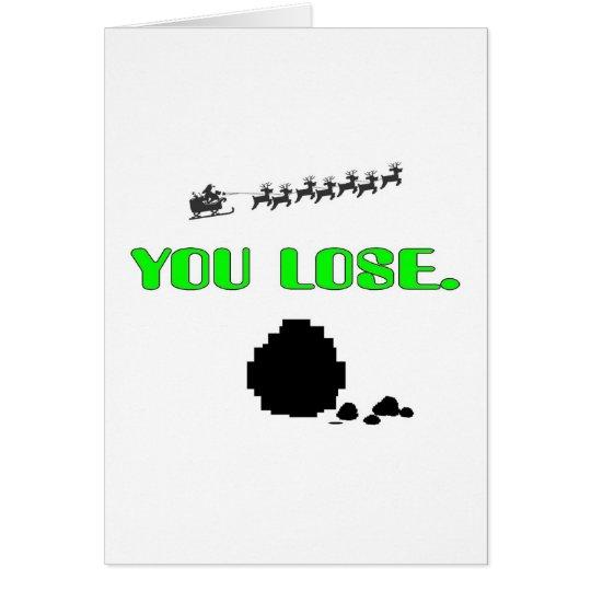 Lump Of Coal-You Lose Card