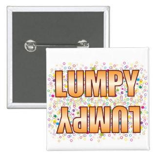 Lumpy Bubble Tag 2 Inch Square Button