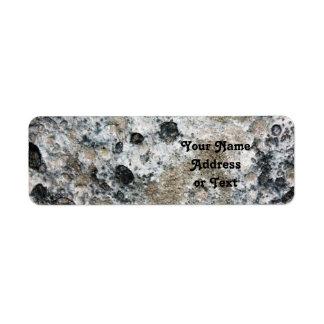 Lumpy Bumpy Moon Rock Return Address Label