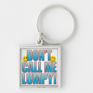 Lumpy Call Life B Silver-Colored Square Keychain