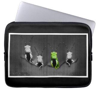 Lumpy Green Bug Laptop Computer Sleeve