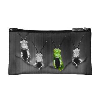 Lumpy Green Bug Makeup Bag