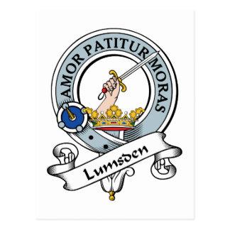 Lumsden Clan Badge Postcard