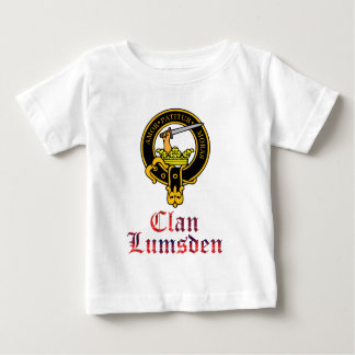 Lumsden scottish crest and tartan clan name baby T-Shirt