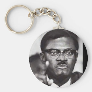 Lumumba Basic Round Button Keychain