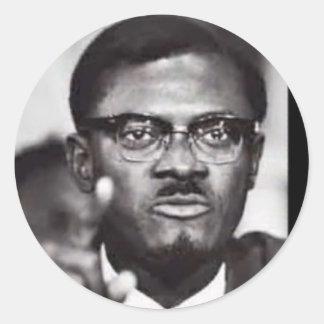 Lumumba Classic Round Sticker
