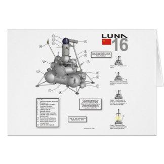 Luna 16 Illustration Greeting Cards