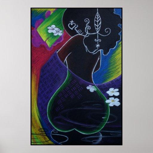 Luna africana - impresión de Miami Deco Póster