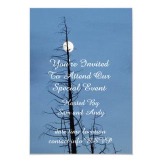 """Luna alanceada por el árbol invitación 3.5"""" x 5"""""""