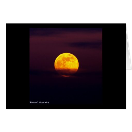 Luna amarilla tarjeta pequeña