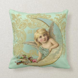Luna Angel throw pillow, vintage custom art Throw Pillow