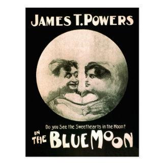 Luna azul 1906 del poster de las artes tarjeta postal