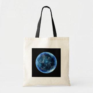 luna azul bolsa lienzo