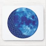 Luna azul céltica alfombrilla de ratones