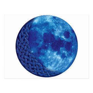 Luna azul céltica postales