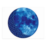 Luna azul céltica tarjeta postal