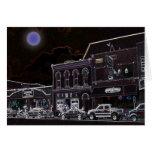 Luna azul de Nashville Tarjeta De Felicitación