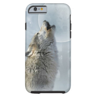 Luna azul del lobo funda para iPhone 6 tough