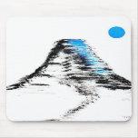 Luna azul del Mt Fuji Alfombrilla De Ratones