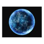 luna azul invitación 10,8 x 13,9 cm