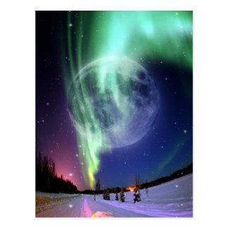 Luna azul llena grande brillante hermosa mística postales