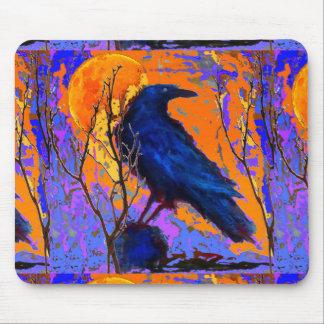 Luna azul mística del cuervo por Sharles Tapetes De Ratones