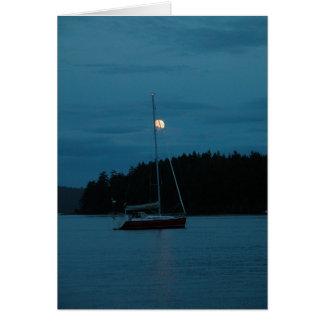Luna azul tarjeta