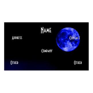 Luna azul tarjetas de visita