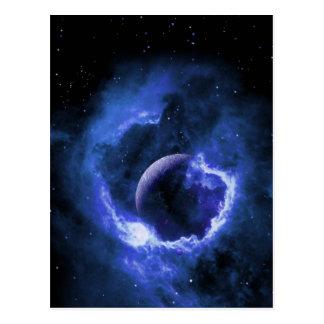 Luna azul postal