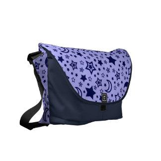 Luna azul y la bolsa de mensajero de las estrellas bolsa de mensajería