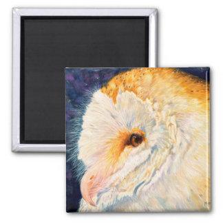 Luna - Barn Owl Magnet