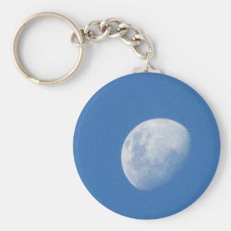 Luna brillante llavero redondo tipo pin