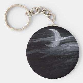 Luna brumosa llavero redondo tipo pin