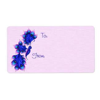 Luna Butterfly Gift Tag Labels