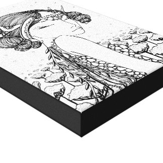 Luna Stretched Canvas Print