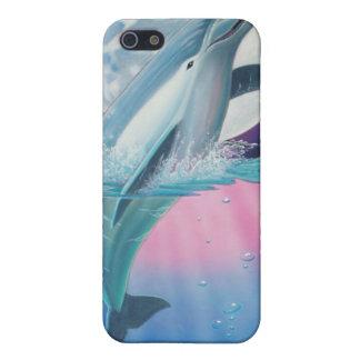 Luna celestial del delfín iPhone 5 carcasa