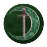 Luna céltica verde juego de fichas de póquer