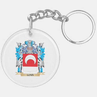 Luna Coat of Arms - Family Crest Keychain
