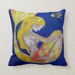Luna - collage de la sirena cojín decorativo