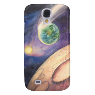 Luna, cometa, tierra, Sun Funda Para Galaxy S4