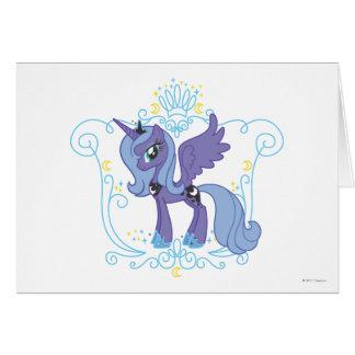 Luna con la corona tarjeta de felicitación