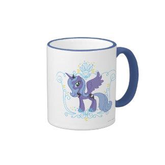 Luna con la corona tazas de café