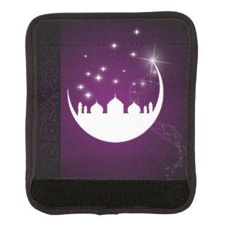 Luna con la silueta de la mezquita - abrigo de la funda para asa de maleta